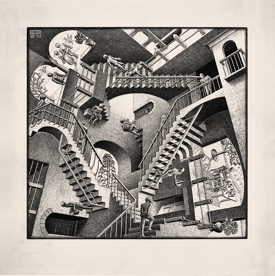 M. C. Escher, Relativity, Lithograph
