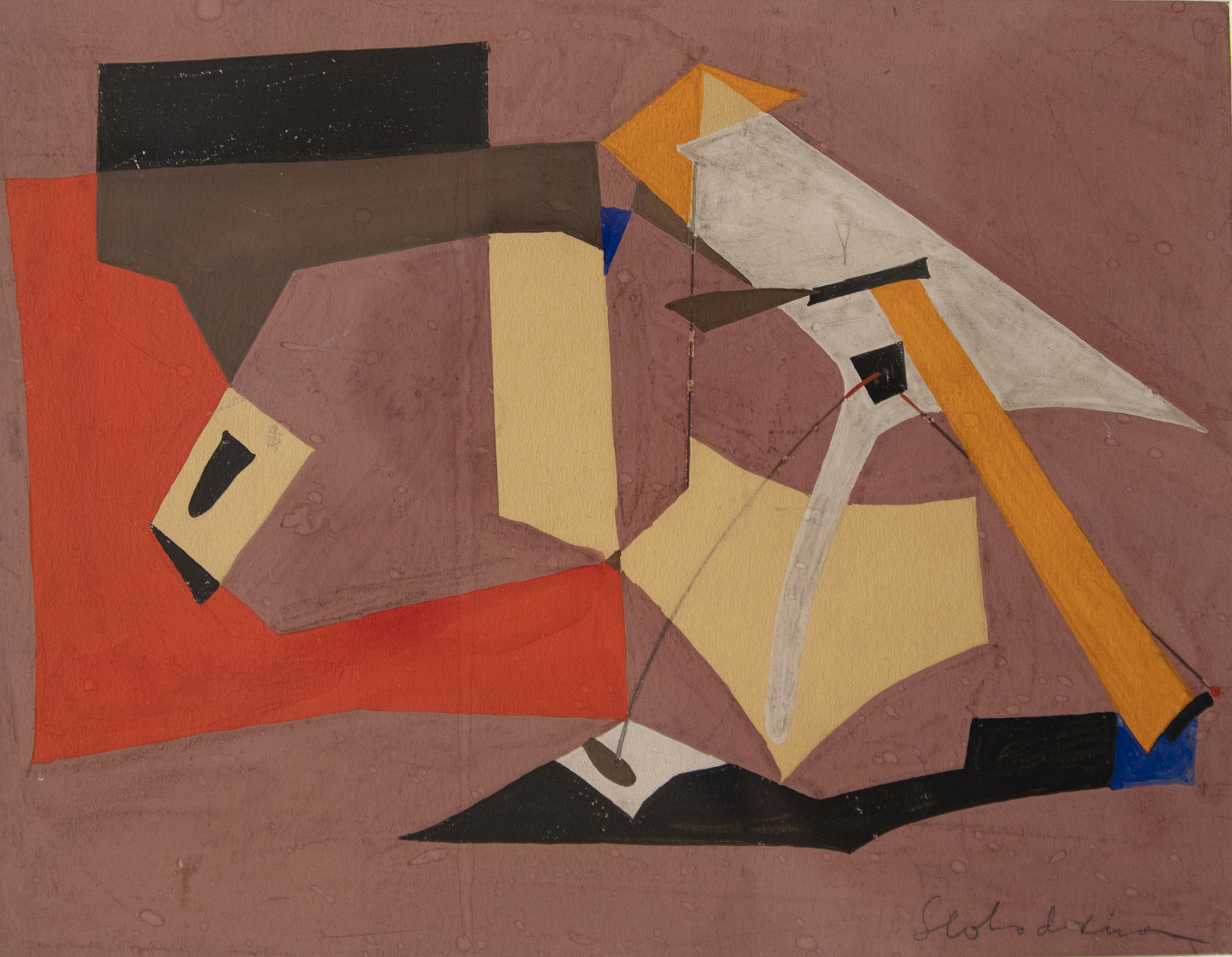Esphyr Slobodkina, The Red L Abstraction (1940),